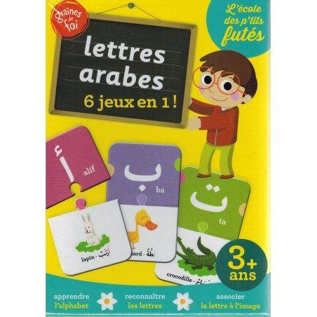 Lettres arabes 6 jeux en 1 - Graines de foi