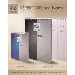 Répertoire voc-notes A6 - Tadris