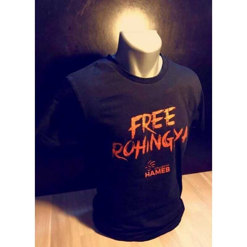 T-shirt Free Rohingyas - HAMEB
