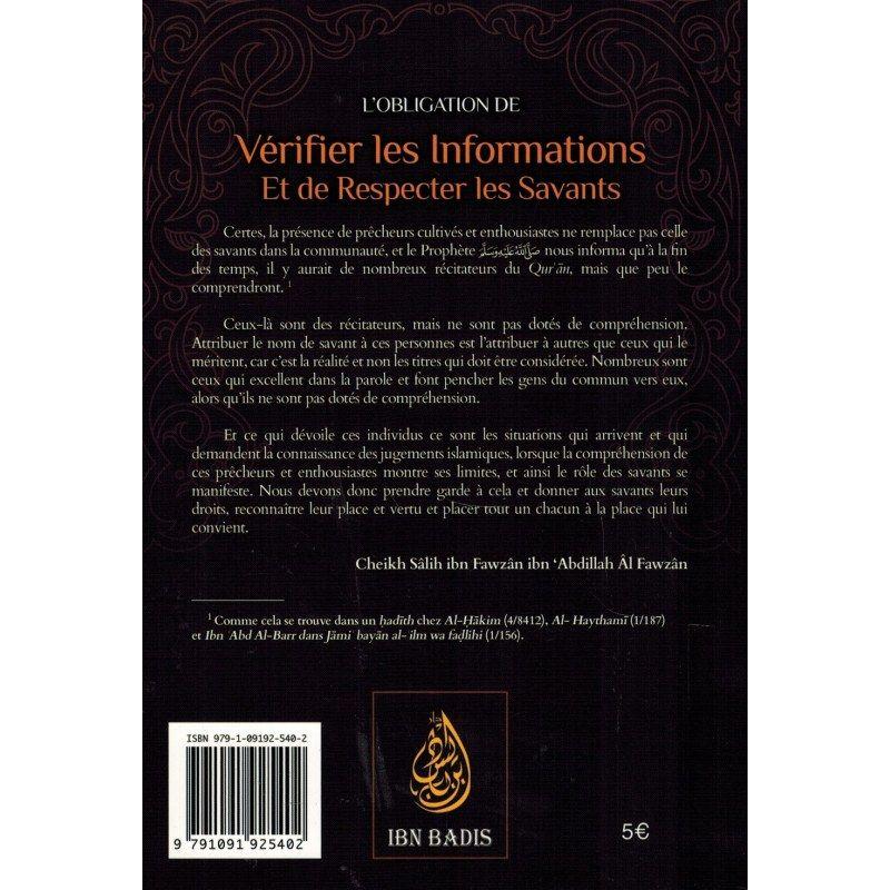 L'obligation de vérifier les Informations et de respecter les Savants - Shaykh Al-Fawzân - Ibn Badis
