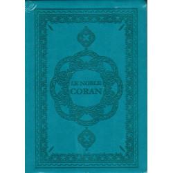 Le Noble Coran avec Traduction des sens en Français - Bleu - Souple