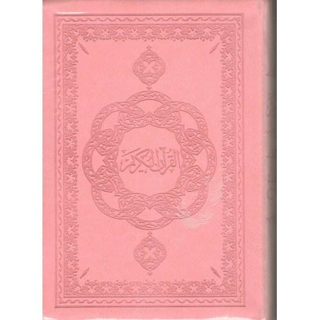 Le Noble Coran avec Traduction des sens en Français - Rose - Souple