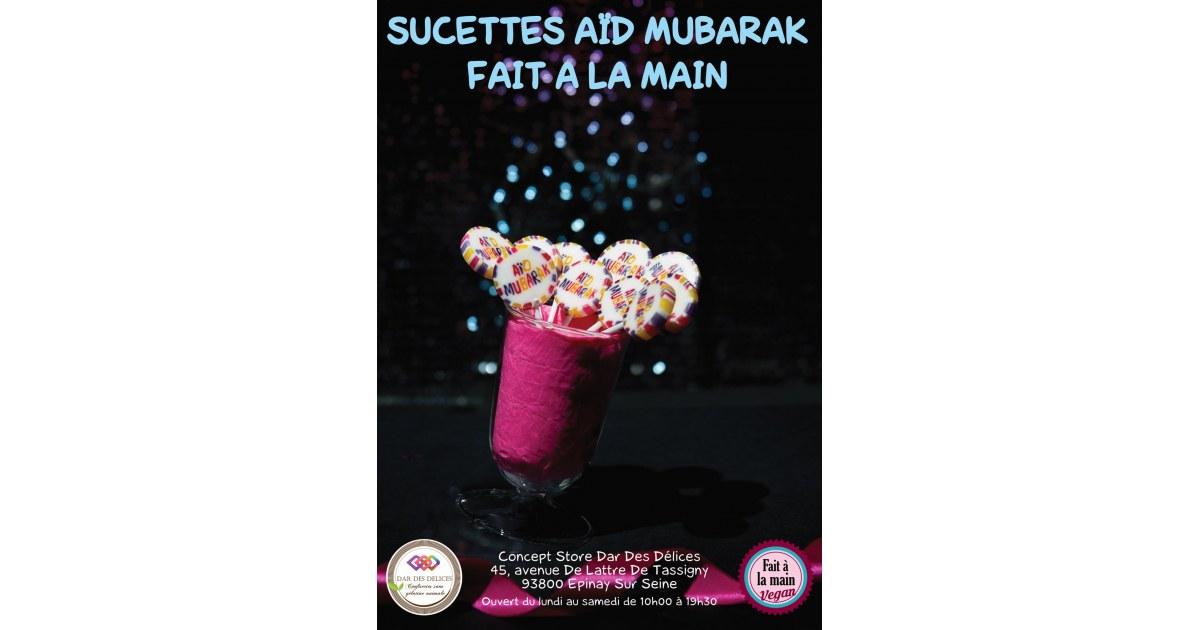 Les sucettes Aïd Mubârak (Lot de 10 sucettes)