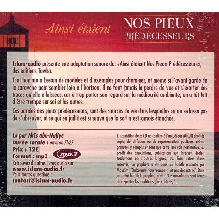 Ainsi étaient Nos Pieux Prédécesseurs - Islam Audio - Français - CD MP3