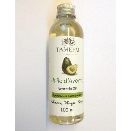 Huile d'Avocat (Aocado) - 100% Naturel - 100 ml - Tameem