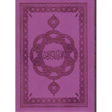 Le Noble Coran avec Traduction des sens en Français - Violet - Souple