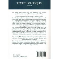 Textes Politiques - Tome 1...