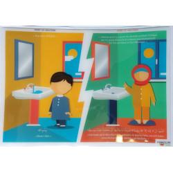 Autocollant (Sticker) - Avant & après les ablutions - Invocations du Quotidien - Mooslim Toys
