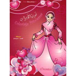 Coloriage Princesses - Bilingue français & arabe - Orientica