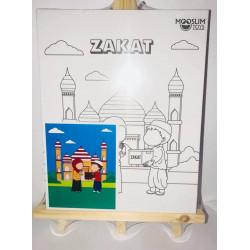 Kit Toile à Peindre - Zakât (Aumône) - CREATIV' ARKANE - Mooslim Toys