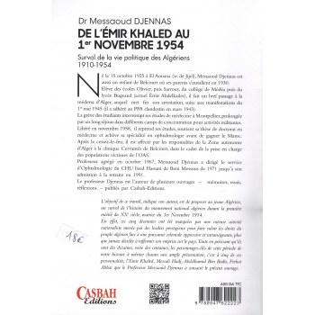 De l'Émir Khaled au 1er Novembre 1954 - Dr. Messaoud Djennas - Casbah Editions