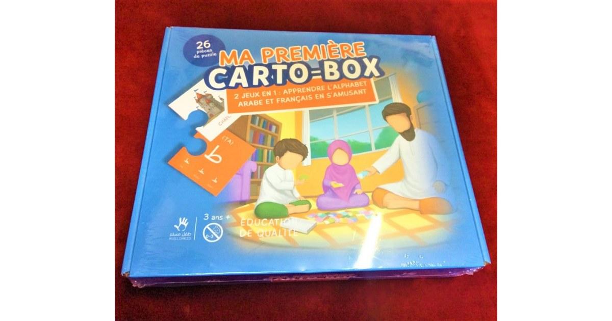 Puzzle Ma première CARTO-BOX - 2 jeux en 1 : Appendre l'Alphabet Arabe et Français en s'amusant - MUSLIMKID