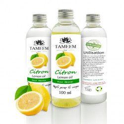 Huile de Citron (Lemon) - 100% Naturel - 100 ml - Tameem