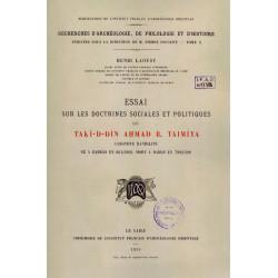 Essai sur les doctrines sociales et politiques de Taki-d-Din Ahmad b. Taimiya - Henri Laoust
