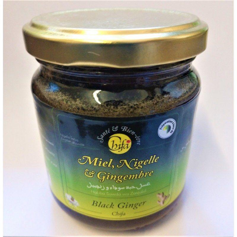Miel à la Nigelle et au Gingembre - 100% Naturel - 250g - Chifa