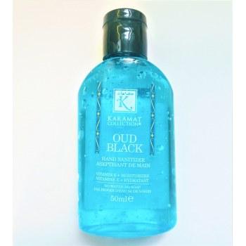 Gel Aseptisant Main au Oud Black (Hydratant + Vitamine E) - 50ml - Karamat Collection