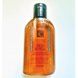 Gel Aseptisant Main au Oud Royal (Hydratant + Vitamine E) - 50ml - Karamat Collection