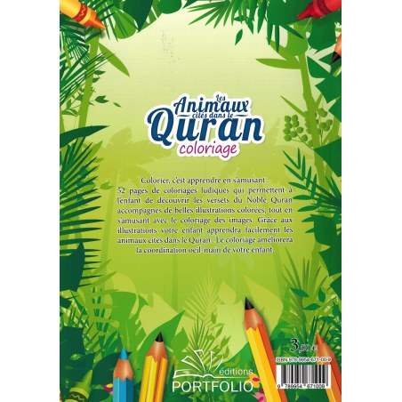 Livre de coloriage : Les Animaux cités dans le Quran - Editions Portfolio