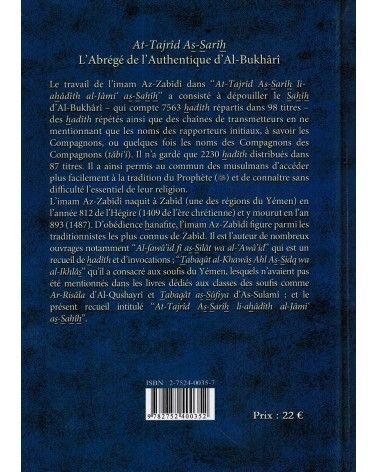 L'abrégé de l'Authentique d'Al Boukhârî (At-Tajrîd As-Sarîh) -  Az-Zabîdî - Maison d'Ennour