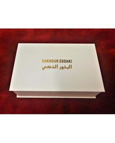 Bakhour Eddaki Vert (Mekhbara en Crystal + 20 bâtonnets d'encens)