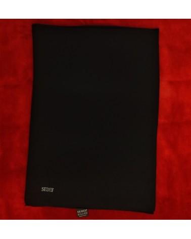 Hijab Noir en Soie de Médine (75 x 200cm) - SEDEF