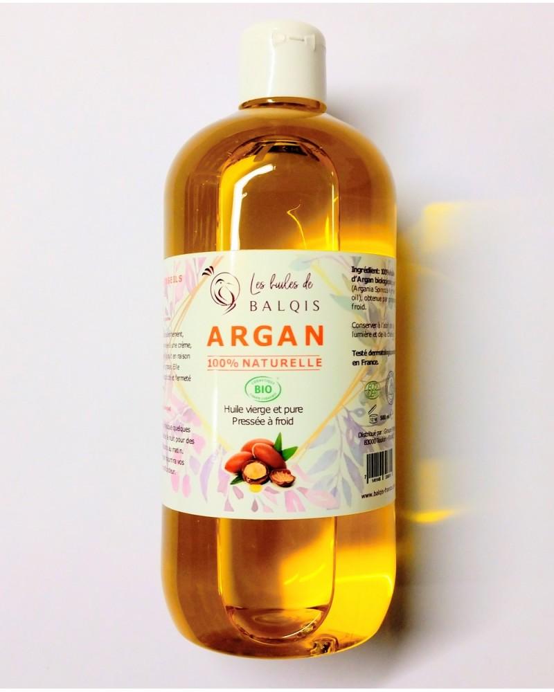 Huile d'Argan Bio - Vierge & Pure - 500 ml - Les huiles de BALQIS