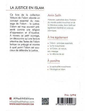 La Justice en Islam - Valeurs de l'Islam - Amin Salih - Al-Hadîth