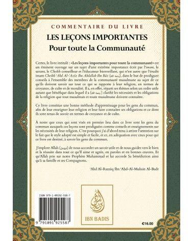 Les Leçons importantes - Ibn Bâz - Commentaire d'Abd Ar-Razzaq Al-Badr - Ibn Badis  - Ibn Badis