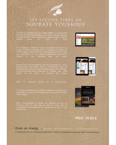 Les Leçons tirés de Sourate Youssouf - Shaykh Ibn Nâsir As-Sa'di - Dine Al-Haqq