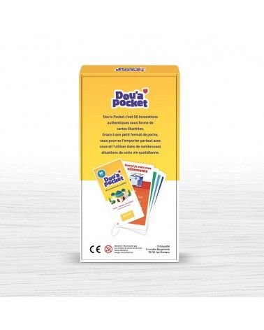 DOU'A POCKET - 50 jolies cartes d'invocations (Arabe, Français & Phonétique) - Educatfal