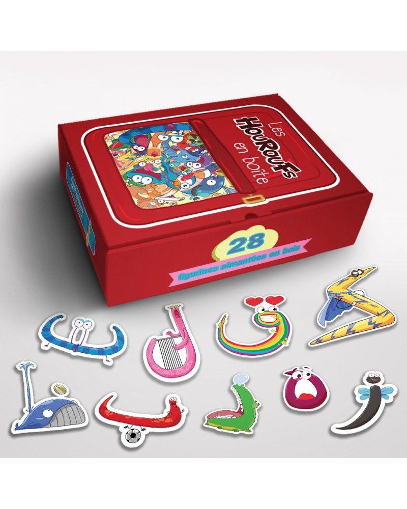 Les Houroufs en boite - 28 Figurines aimantées en bois - Le Monde des Houroufs